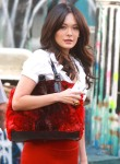 Lindsay Price On The Set Of 'Lipstick Jungle'