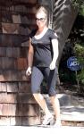 EXCLUSIVE: Rebecca Romijn Leaving The Gym In Calabasas